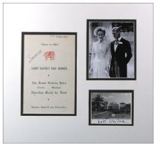 Duke & Duchess of Windsor Autograph Signed Display